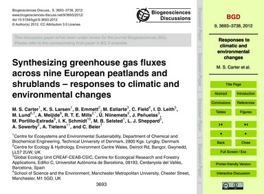 Synthesizing Greenhouse Gas Fluxes Acros... by Carter, M. S.