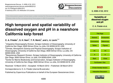 High Temporal and Spatial Variability of... by Frieder, C. A.