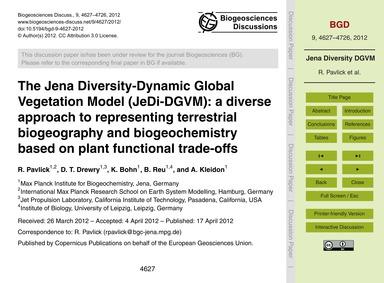 The Jena Diversity-dynamic Global Vegeta... by Pavlick, R.