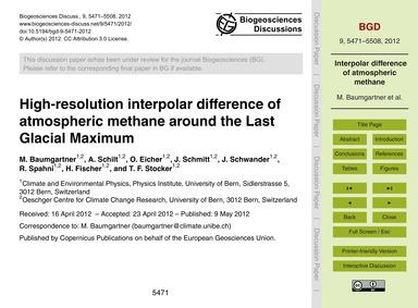 High-resolution Interpolar Difference of... by Baumgartner, M.