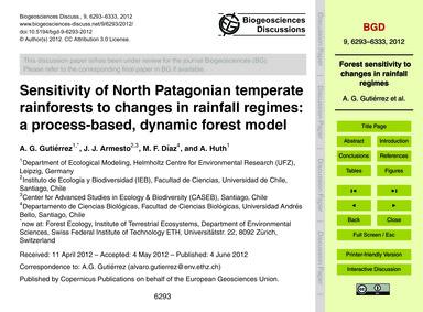 Sensitivity of North Patagonian Temperat... by Gutiérrez, A. G.