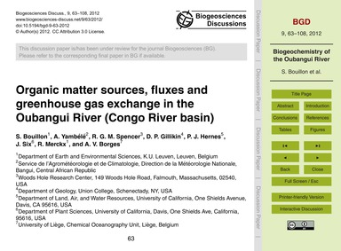 Organic Matter Sources, Fluxes and Green... by Bouillon, S.