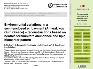 Environmental Variations in a Semi-enclo... by Naeher, S.