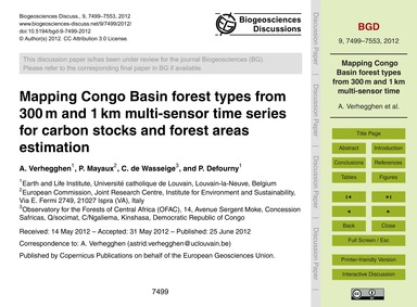 Mapping Congo Basin Forest Types from 30... by Verhegghen, A.