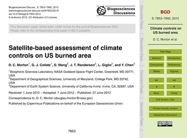 Satellite-based Assessment of Climate Co... by Morton, D. C.