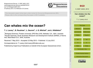 Can Whales Mix the Ocean? : Volume 9, Is... by Lavery, T. J.
