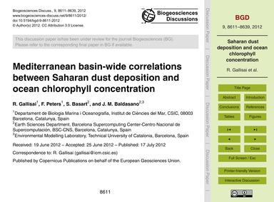 Mediterranean Basin-wide Correlations Be... by Gallisai, R.