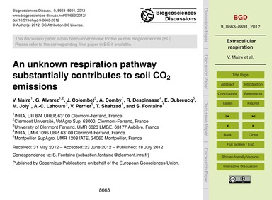 An Unknown Respiration Pathway Substanti... by Maire, V.