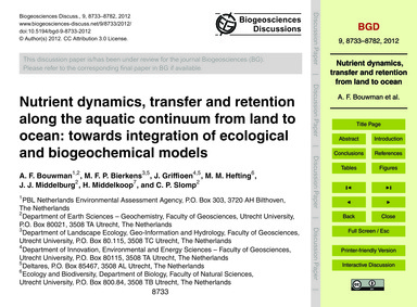 Nutrient Dynamics, Transfer and Retentio... by Bouwman, A. F.