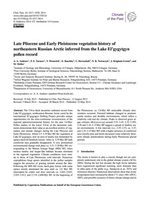 Late Pliocene and Early Pleistocene Vege... by Andreev, A. A.