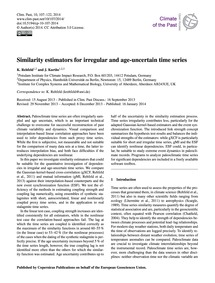 Similarity Estimators for Irregular and ... by Rehfeld, K.