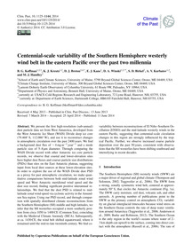 Centennial-scale Variability of the Sout... by Koffman, B. G.