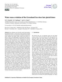 Water Mass Evolution of the Greenland Se... by Telesiński, M. M.