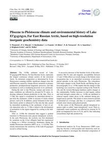 Pliocene to Pleistocene Climate and Envi... by Wennrich, V.