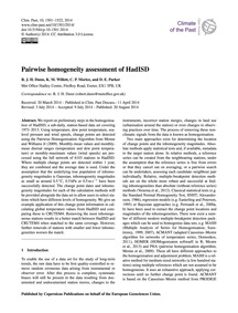 Pairwise Homogeneity Assessment of Hadis... by Dunn, R. J. H.