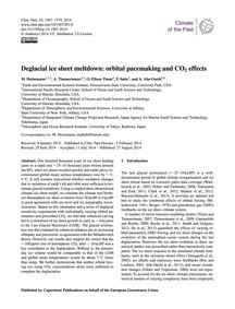Deglacial Ice Sheet Meltdown: Orbital Pa... by Heinemann, M.