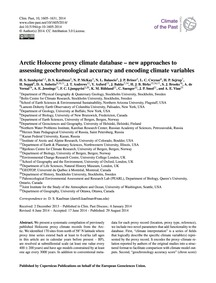Arctic Holocene Proxy Climate Database –... by Sundqvist, H. S.