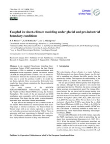 Coupled Ice Sheet–climate Modeling Under... by Ziemen, F. A.