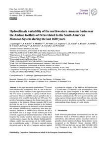 Hydroclimate Variability of the Northwes... by Apaéstegui, J.