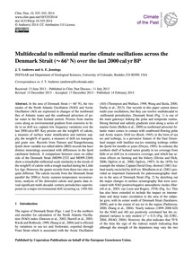 Multidecadal to Millennial Marine Climat... by Andrews, J. T.