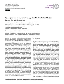 Hydrographic Changes in the Agulhas Reci... by Naik, D. K.