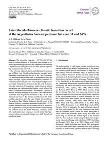Late Glacial–holocene Climatic Transitio... by Mehl, A. E.