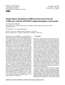 Global Climate Simulations at 3000-year ... by Alder, J. R.
