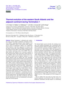 Thermal Evolution of the Western South A... by Chiessi, C. M.