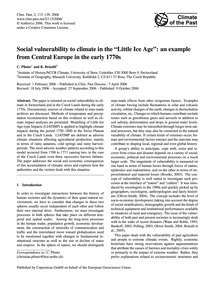 Social Vulnerability to Climate in the L... by Pfister, C.