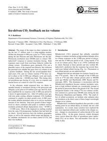 Ice-driven Co2 Feedback on Ice Volume : ... by Ruddiman, W. F.