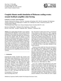 Coupled Climate Model Simulation of Holo... by Renssen, H.