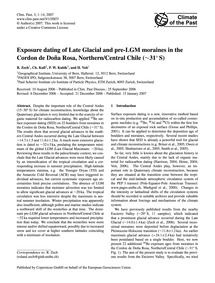Exposure Dating of Late Glacial and Pre-... by Zech, R.