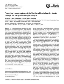Numerical Reconstructions of the Norther... by Charbit, S.