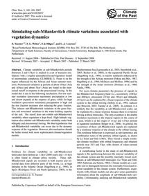 Simulating Sub-milankovitch Climate Vari... by Tuenter, E.