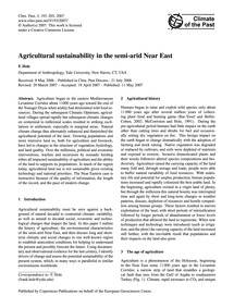 Agricultural Sustainability in the Semi-... by Hole, F.