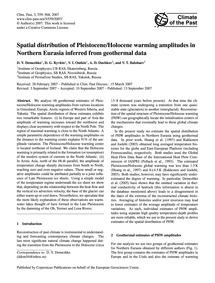Spatial Distribution of Pleistocene/Holo... by Demezhko, D. Y.