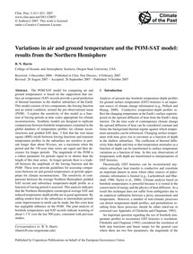 Variations in Air and Ground Temperature... by Harris, R. N.