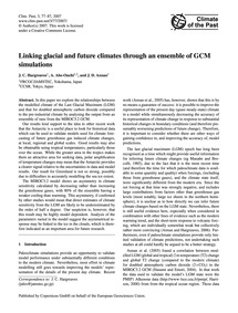 Linking Glacial and Future Climates Thro... by Hargreaves, J. C.