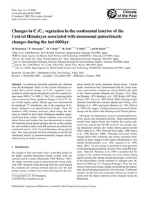 Changes in C3/C4 Vegetation in the Conti... by Mampuku, M.