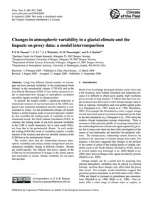 Changes in Atmospheric Variability in a ... by Pausata, F. S. R.