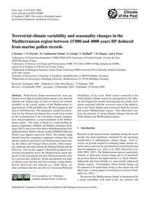 Terrestrial Climate Variability and Seas... by Dormoy, I.