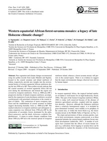 Western Equatorial African Forest-savann... by Ngomanda, A.