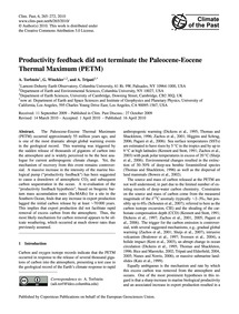 Productivity Feedback Did Not Terminate ... by Torfstein, A.