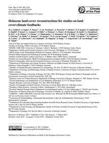 Holocene Land-cover Reconstructions for ... by Gaillard, M.-j.