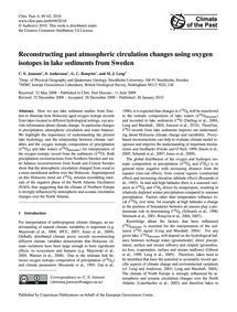 Reconstructing Past Atmospheric Circulat... by Jonsson, C. E.