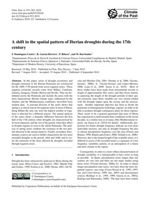 A Shift in the Spatial Pattern of Iberia... by Domínguez-castro, F.
