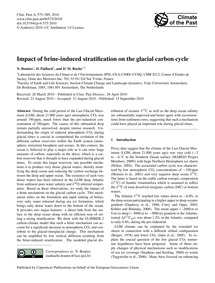 Impact of Brine-induced Stratification o... by Bouttes, N.