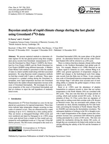 Bayesian Analysis of Rapid Climate Chang... by Peavoy, D.