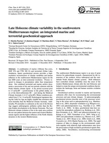 Late Holocene Climate Variability in the... by Martín-puertas, C.