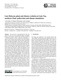 Late Holocene Plant and Climate Evolutio... by Lézine, A.-m.